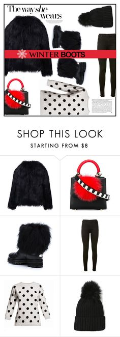 """""""The way she wears winter boots"""" by eva-van-aardbei ❤ liked on Polyvore featuring Les Petits Joueurs, Jimmy Choo, J Brand, Rumour London, Kershaw, polyvoreeditorial and winterboots"""