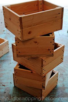 to Build a Simple Crate i should be mopping the floor: DIY Crate Tutorial {simple, cheap amp; easy}i should be mopping the floor: DIY Crate Tutorial {simple, cheap amp; Wood Crates, Wood Boxes, Wood Pallets, Pallet Boxes, Diy Pallet, Pallet Crates, Pallet Wood, Diy Wood Box, Wood Crate Diy
