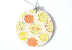 Something to clelbrate Buttons!  BUTTON BUTTONS handmade ceramic ornament by FaithAnnOriginals, $24.00