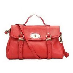 62b93d8159e5 Crafted Mulberry Oversized Alexa Bag Natual Leather Red £175.33