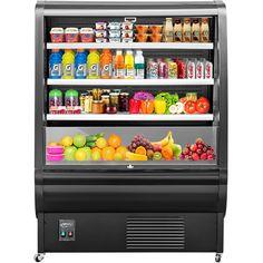$2599.99 • Buy Open Air Refrigerated Display Case Intelligent Cooling Showcase 360L Black Beverage Refrigerator, Display Case, Auction, Black, Glass Display Case, Display Window, Black People