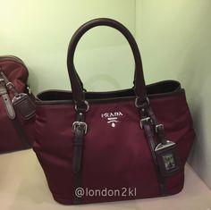Prada BN1841 in Maroon RM2,580 ❤ it? Order now. Once it's gone, it's gone! Just WhatsApp me +44 7535 715 239. We are at Bicester Village (luxury designer fashion).  Last orders 12 midnight ⏰ Malaysia time.  See other great items 👉🏾 #L2KLbv #L2KLbv #L2KLbv, or contact me now on WhatsApp for anything you are searching for.