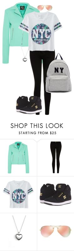 """Untitled #116"" by jmatz on Polyvore featuring McQ by Alexander McQueen, Current/Elliott, Aéropostale, DC Shoes, Pandora, Ray-Ban, Joshua's, women's clothing, women and female"