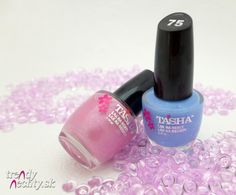 Tascha, nail polish, pink, blue