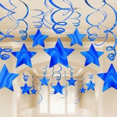 Blue Shooting star Party Decorations #partysupplies