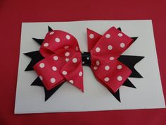 """Toddler's/Girl's Hand Made Hair Bow, Double Boutique Bow 7"""",,,. $5.50, via Etsy."""