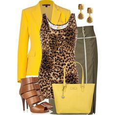 Yellow & leopard