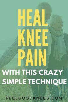 Crazy Simple Technique to Reduce Knee Pain Knee Pain Relief, Arthritis Pain Relief, Arthritis Remedies, Knee Swelling, Swollen Knee, Knee Osteoarthritis, Knee Arthritis Exercises, Knee Pain Exercises