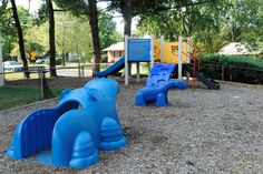 Enclosed kids play area at Cheverly Station, Landover, Maryland.