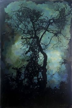 One of my silhouette oil paintings that I explored colour as much as the poetry of silhouettes. I find greens and blues such calming and meditative colours to work with. Oil Paintings, Calming, Silhouettes, Meditation, Blues, Poetry, Colours, Explore, Landscape