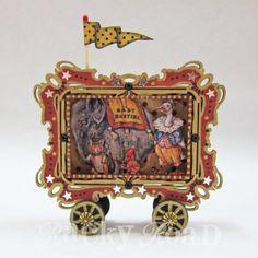 Vintage Circus Train Elephant Car -Altered Altoid Tin
