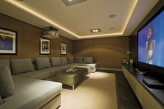 Contemporary contemporary-home-cinema