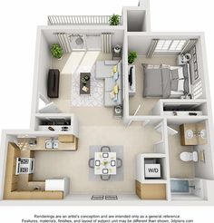 51 Small Apartment Layout To Upgrade Your Decoration - homeburger Sims 4 House Plans, Small House Floor Plans, House Layout Plans, House Layouts, Sims 4 Houses Layout, Tiny House Layout, Bedroom Layouts, Studio Apartment Floor Plans, Studio Apartment Layout