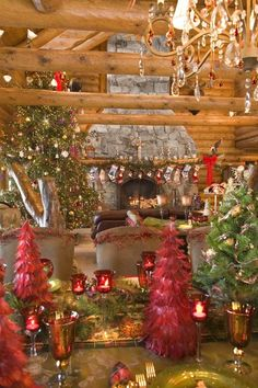 Christmas in a log cabin... can you imagine it !