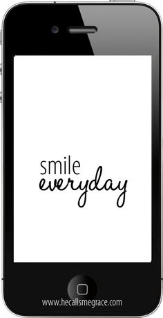 Smile Everyday - Free iPhone wallpaper dowload