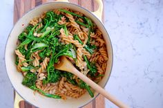 One Pot Broccolini Pasta with Sausage and White Beans | Uproot Kitchen