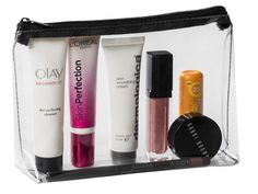 Showcase your logo on the Chloe Cosmetic Bag! It is a cute and fun see through cosmetics bag with a black zip.