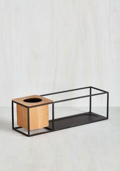 Modern Marvelous Shelf. The best kind of contemporary styles mix minimalist motifs with rustic touches. #black #modcloth