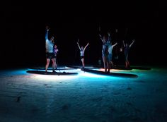 Rarotongas best Night Paddling Tour. You can choose SUP or kayak and we'll light the lagoon