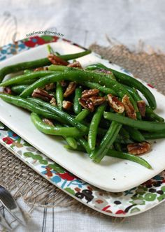 Mrs. Olson's Kitchen   Green Beans with Brown Butter Pecans