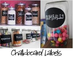 Chalkboard labels