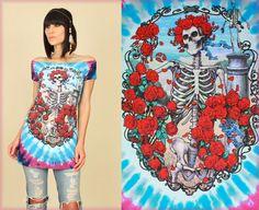 GRATEFUL DEAD Bertha Roses Tie Dye DiY TUNIC by hellhoundvintage, $42.00