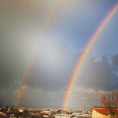 Fantstico doppio arcobaleno