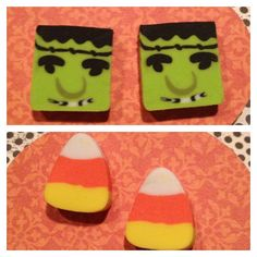 Fun Whimsical Frankenstein or Candy corn Halloween earrings. Post only.  Choose by style.   by RockinRobinsBling, $3.00