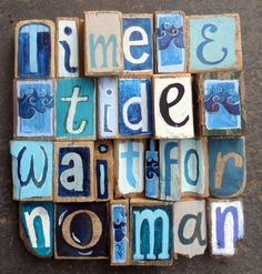 'time & tide' - driftwood art - by Lizzie Spikes