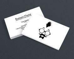 Modern Business Card Design - Cool Hipster Dude - b
