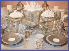 january tablescapes   Tablescape: Silver and Gray in January   CHINCHILLA