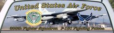 US Air Force 308th Tactical Fighter Squadron Truck Window Graphic Mural.