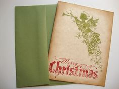 A personal favorite from my Etsy shop https://www.etsy.com/listing/110397844/angel-christmas-cards-rustic-vintage