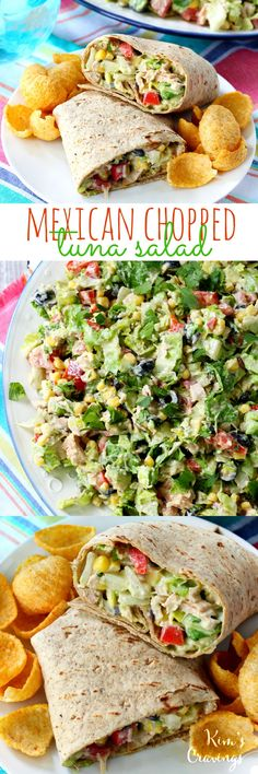 Mexican Chopped Tuna Salad- protein-packed tuna combined with fresh veggies and . Mexican Chopped Tuna Salad- protein-packed tuna combined with fresh veggies and a creamy taco-flavored dressing makes for the most incredibly tasty tuna salads! Seafood Recipes, Mexican Food Recipes, Cooking Recipes, Seafood Soup, Mexican Tuna Salad Recipe, Canned Tuna Recipes, Cooking Tips, Healthy Snacks, Healthy Eating
