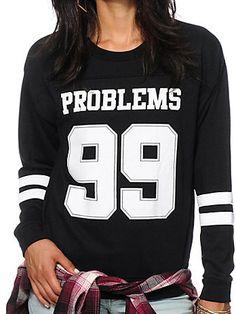 Black Round Neck Letters 99 Print Sweatshirt 16.14