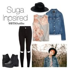 """Suga Inspired Outfit"" by btsoutfits ❤ liked on Polyvore featuring Zara, J.Crew, Steve Madden and New Look"