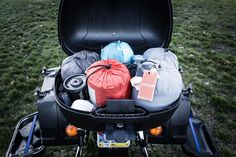 packing for two up motorcycle camping                                                                                                                                                     More