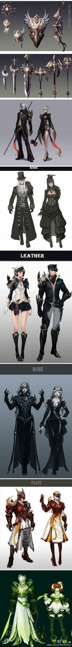Gorgeous armor and weapon designs