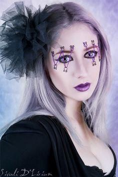 Very cool Halloween makeup Cool Halloween Makeup, Halloween Masks, Halloween Costumes For Kids, Halloween Make Up, Sfx Makeup, Costume Makeup, Beauty Makeup, Hair Makeup, Hair Beauty