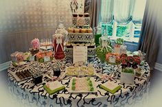 Pea pens, cake pops, and table runners    Sweet Pea Baby Shower