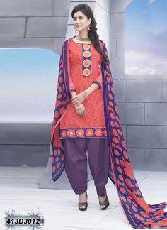 Salmon Designer Salwar Suit