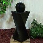 Black Ball Solar On Demand Pillar Outdoor Water Fountain with LED Lights http://stores.ebay.com/jodezegiftsnmore
