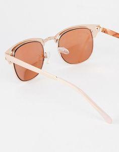 e5a42f04b1 New Look Metal Frame Rose Gold Sunglasses at asos.com