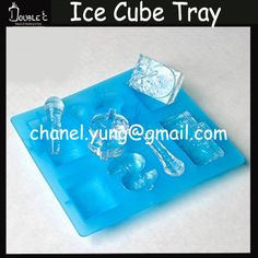 3D Ice Cube Tray Factory Wholesale Fashion Idea Micrphone Dollar Shape Candy Jelly Ice cake Silicone Mould Mold Baking Pan Tray