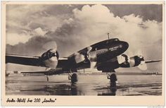 airplanes of the 1930s | RP: CONDOR Airlines Focke-Wulf Airplane, 1930s