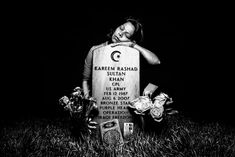 Elsheba Khan at the grave of her son, specialist Kareem Rashad Sultan Khan by Platon