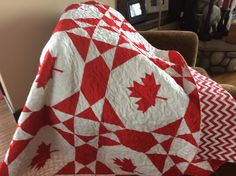"""❤️Canada quilt! 62"""" square! For sale!"""