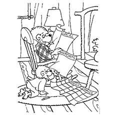 top 25 free printable berenstain bears coloring pages online - Berenstain Bears Coloring Book