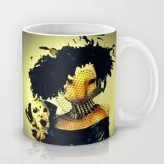 Cruella cat Mug by Annabellerockz - $15.00