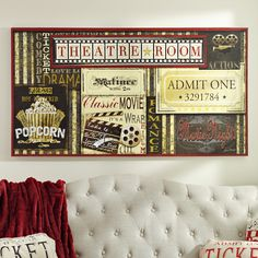 incorporate vintage flair and movie themes into your media room with